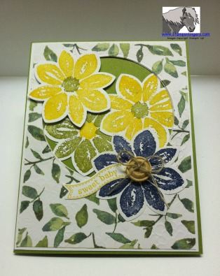 Green and Yellow Sweet Baby Card Front 1 Watermarked