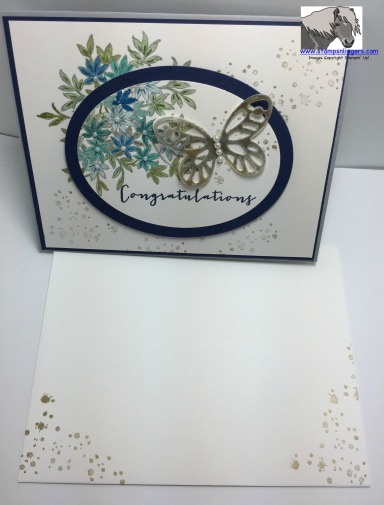 Blue Wedding Butterfly Card and Envelope watermarked