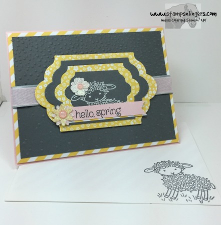 Easter Lamb Hello Spring 6 - Stamps-N-Lingers