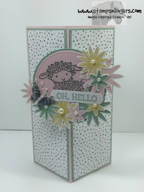 Honeycomb Hello Lamb Fun Fold 1 - Stamps-N-Lingers