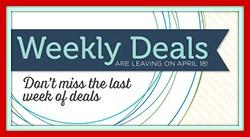 Weekly Deals One Week Left