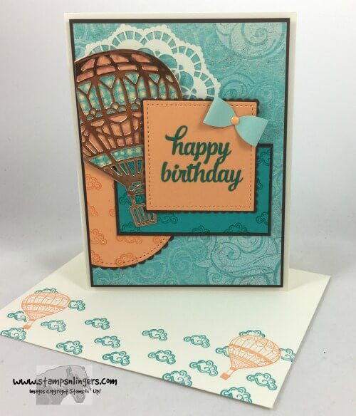 Stampin Up Lift Me Up Away Birthday for the Happy Inkin – Doozy Cards Birthday