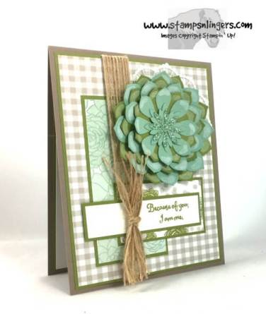 Stampin Up Succulents For Mother S Day For The Happy