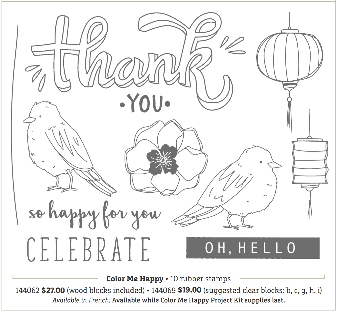 Stampin up color me merry thank you stamps n lingers along with the stampin blends themselves weve got a wonderful new stamp set called color me happy nvjuhfo Image collections